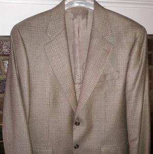 Ralph Lauren Men's Glen Plaid Silk Wool 2B Blazer